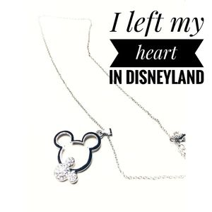 Jewelry - Rhinestone Mickey Mouse Pendant, Silver/Rose Gold